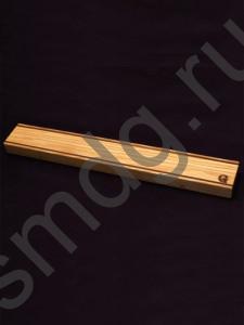 Магнитный держатель для ножей. Материал ясень, американский орех, неодимовые магниты.